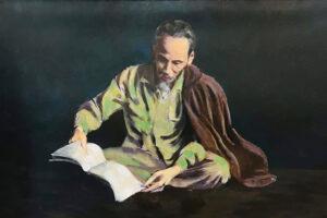 Triển lãm 13 bức tranh sơn dầu về Chủ tịch Hồ Chí Minh