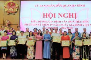 Quận Ba Đình biểu dương 62 gia đình văn hóa tiêu biểu