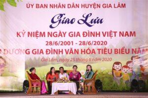Huyện Gia Lâm tổ chức giao lưu kỷ niệm Ngày gia đình Việt Nam