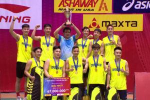 Hà Nội vô địch nội dung đồng đội nam giải Cầu lông toàn quốc 2020