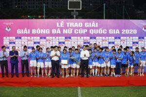 Khép lại giải Bóng đá Nữ Cúp Quốc gia 2020: Hà Nội I Watabe đoạt giải Ba và giải phong cách