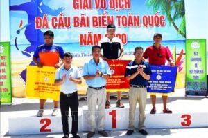 Hà Nội đứng thứ Ba tại giải Vô địch Đá cầu bãi biển toàn quốc năm 2020