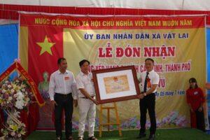Lễ đón nhận bằng Di tích lịch sử, kiến trúc cấp Thành phố đền Vù