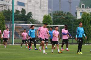 Hà Nội FC trở lại tập luyện sau quãng thời gian nghỉ dịch