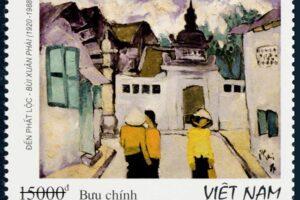 Tem về phố cổ Hà Nội được phát hành kỷ niệm 100 năm ngày sinh họa sĩ Bùi Xuân Phái
