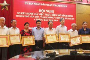 """Thành công trong xây dựng mô hình tổ dân phố văn hóa """"5 không"""" ở quận Thanh Xuân"""