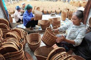 Nét đẹp làng nghề mây tre đan Phú Vinh