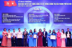 Ngày 29/9/2020, Hà Nội tổ chức Lễ trao thưởng 02 Giải báo chí của Thành phố