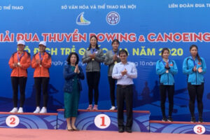Hà Nội tạm đứng thứ ba giải Đua thuyền Canoeing vô địch trẻ quốc gia 2020