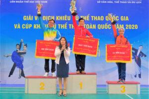 Hà Nội đứng thứ Ba toàn đoàn giải Vô địch Khiêu vũ thể thao toàn quốc 2020