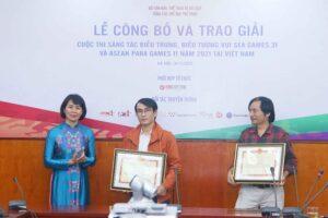 Trao giải cuộc thi sáng tác biểu trưng, biểu tượng vui SEA Games 31 và ASEAN Para Games 11