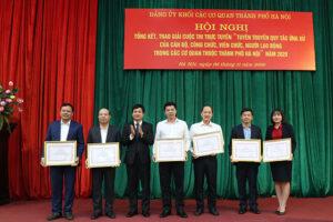 Tổng kết và trao giải Cuộc thi trực tuyến tuyên truyền quy tắc ứng xử của CBCCVC, người lao động trong các cơ quan thuộc thành phố