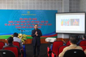 Hội nghị Tập huấn Quản lý nhà nước các Liên đoàn, Hiệp hội và các tổ chức Hội về lĩnh vực Thể dục thể thao TP. Hà Nội 2020