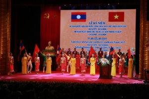 Trọng thể lễ kỷ niệm 45 năm Quốc khánh nước Cộng hòa Dân chủ nhân dân Lào và 100 năm Ngày sinh Chủ tịch Cay-xỏn Phôm-vi-hản