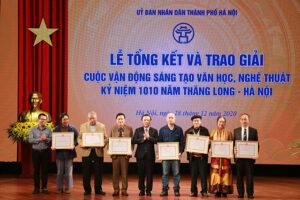 55 tác phẩm đạt giải sáng tạovăn học, nghệ thuật kỷ niệm 1010 năm Thăng Long – Hà Nội