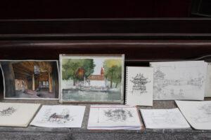 """125 bức ký họa góp mặt tại Cuộc thi """"Ký họa Văn Miếu – Quốc Tử Giám"""""""