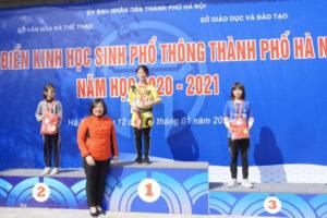 Kết thúc Giải Điền kinh học sinh Hà Nội năm học 2020-2021
