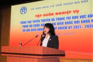 Hội nghị tập huấn công tác tuyên truyền bầu cử đại biểu Quốc hội khóa XV và bầu cử đại biểu HĐND các cấp nhiệm kỳ 2021-2026
