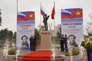 Khánh thành Tượng đài Đại thi hào A.S. Pushkin