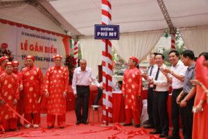 Lễ gắn biển tên đường Phú Mỹ (quận Nam Từ Liêm)