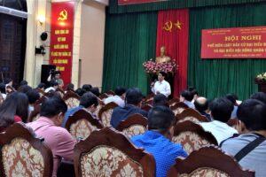 Cán bộ Công đoàn Sở VHTT Hà Nội tham dự Hội nghị phổ biến Luật Bầu cử đại biểu Quốc hội và đại biểu Hội đồng nhân dân
