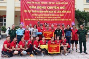 Khai mạc Giải bóng chuyền hơi cựu chiến binh quận Nam Từ Liêm năm 2021