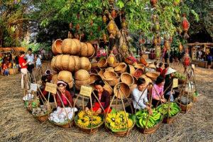 """Hấp dẫn chuỗi hoạt động """"Chợ quê- Ký ức tuổi thơ"""" tại Làng Văn hóa- Du lịch các dân tộc Việt Nam"""