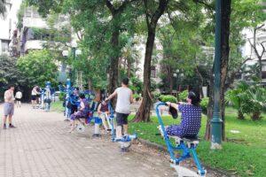 Hà Nội tiếp tục triển khai lắp đặt thiết bị thể dục thể thao ngoài trời