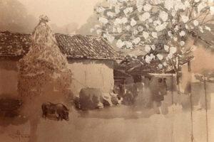 Chiêm ngưỡng không gian nghệ thuật tranh giấy dó tại Hà Nội